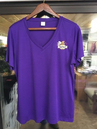Women's XL V Neck Purple Image